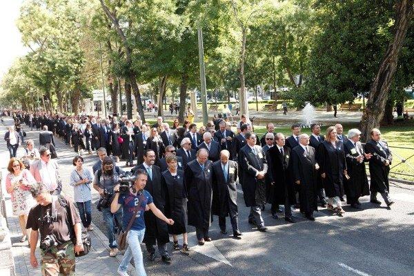 Manifestación de abogados en Madrid.