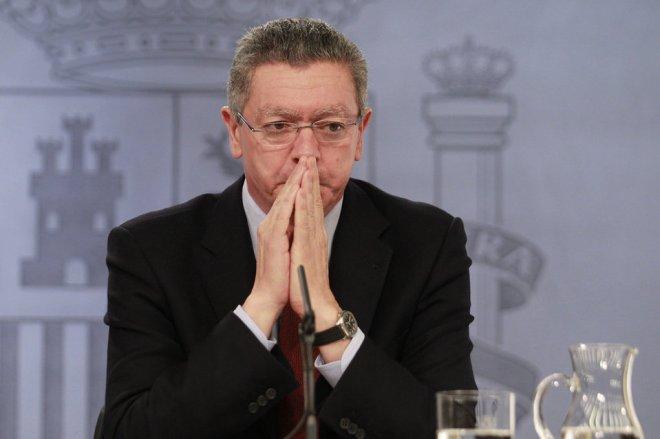 El exministro de Justicia al término de un Consejo de Ministros.