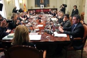 Reunión del Pleno del CGPJ, presidido por Lesmes, celebrada el pasado 29 de enero.