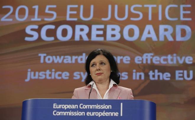 Vera Jourova, comisaria de Justicia de la UE